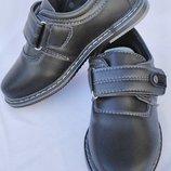 Туфли черные на мальчика на липучке, В5526, размеры 26, 27, 28, 29, 30, 31