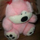 мягкая игрушка розовая собачка