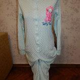 слип пижама человечек трикотажный на девочку 13-14 лет рост 160