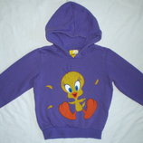 Теплый зимний свитер фирмы FOX Tweety капюшонка кофта джемпер с начесом