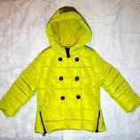 Зимние куртки для девочек 98-128 см