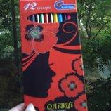 Карандаши цветные 12 цветов Олівці кольорові кольорів канцтовары канцтовари канцелярские канцелярськ