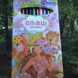 Карандаши цветные 12 цветов Winx Винкс Олівці кольорові 12 кольорів Вінкс канцтовары канцтовари канц
