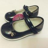 Туфли для девочки синие Чеполино
