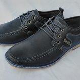 Туфли синие на мальчика на шнурках, D5202-1, Тм Paliament , размеры 36, 37, 38, 39, 40, 41