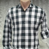 Рубашка в клетку черн-бел