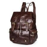 Вместительный кожаный рюкзак Бесплатная доставка 7249C