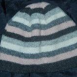 Тепленькая шапочка на девочку 1-3 года холодная осень