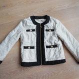 Куртка 6 лет детская девочке Julienmacdonald беж черная стильная