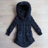 Куртка черная 3-4 г детская девочке Free spirit холодная осень зима Деми