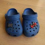 Кроксы аквашузы 15,5 см стелька синие брэнд мальчику джибитсы Crocs Крокс