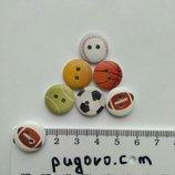 Набор деревянных пуговиц Мячи