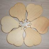 Деревянные игрушки Осенний сад - подвески Яблоко, груша, листик