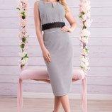Элегантный костюм из раздельных юбки и топа 608