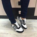 Женские стильные кроссовки замшевые