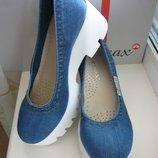 Ersax стильные джинсовые туфли 35,36,37,38,39,40,41 есть примерка в Киеве