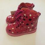 Ботинки деми лак розовые для девочки