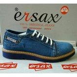 Ersax кожаные мужские джинсовые туфли Турция 41,42,43,44,45