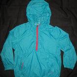 яркая куртка дождевик на 5-6 лет Esprit,бирюзовая