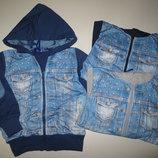 Пайта джинсовая для мальчиков S&D, 4-12 лет. 341