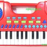 Синтезатор детский пианино 32 клавиши, 8 музыкальных инструментов, множество функций