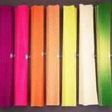 Бумага креповая гофрированная цветная гофро Папір кольор гафрований креповий креп школ шкіл твор тві