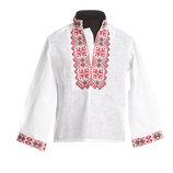 Натуральная рубашка-вышиванка лен от 134 до 158