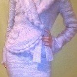 Шикарный костюм EDWARD ACHOUR Франция стиль Chanel