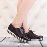 Женские туфли слипоны черные Польша