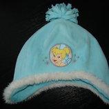 шапка Disney 48-50 см состояние отличное как новая Верх-Флис,подкладка-Флис коттон Холодная осень