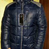 Куртка зимняя подростковая прямая, синяя.