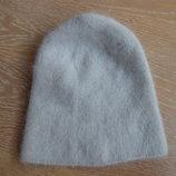 шапка ангора детская серая осень зима