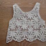 нарядные 98 - 122 см платья топ белый ромашки Kadingdou нарядное платье