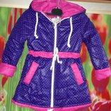 Демисезонная куртка парка на девочку 5-6лет