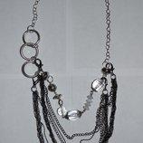 шикарное ожерелье бусы камни бижутерия распродажа отдела