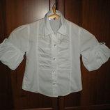 Блузка школьная белая Турция р.122 , 7 лет,можно старше