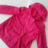 Плащ для девочки розовый Old Navy 5Т, 5 лет, 4 года, плащик, с капюшоном