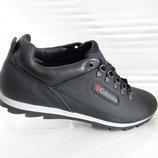 Кожаные мужские спортивные туфли кроссовки Clubshoes модель К1H