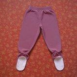 2 года, Флисовые штаны-ползунки Lands End, б/у.