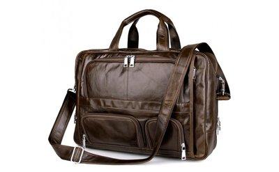 3d800fc6f166 Вместительная кожаная сумка для ноутбука 17 Бесплатная доставка портфель  7289С