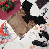 Блуза с бантом, натуральный шелк, размер M-ка