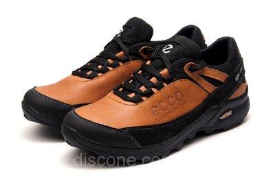 Ecco natural motion рыжие модель 16е Кожаные мужские кроссовки