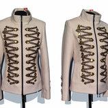 Суперцена. Эффектное пальто, шикарный декор. Гусарка. Новое, р. 42-44