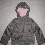 тёплая куртка на 6-7 лет еврозима, девочке