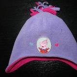 деми шапка Peppa Pig 48 см 1-3 года как новая Верх-Флис,подкладка-Флис