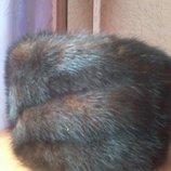 Норковая шапка -боярочка красавица