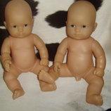 виниловые новорожденные близнецы пупсы Corolle Франция оригинал клеймо 40 см
