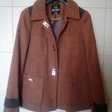 красивенное,элитное оригинальное горчичное пальто Atmosphere,А-силуэта