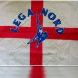 Флаг английского клуба Lega Nord. Размер полотна 78см х 49см