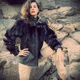 Авторская куртка с мехом чернобурки